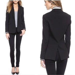 Theory talyia black 1 button close jacket blazer